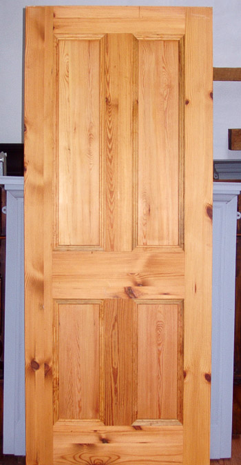 Reycled doors made from old pitch pine timbers